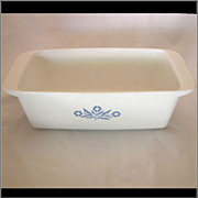 Vintage Corning Ware Cornflower 2 Qt. Bread Loaf Pan