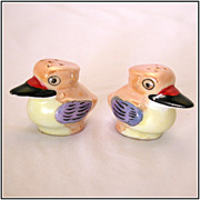 Hand Painted Peach Luster Duck Salt & Pepper Shakers, Japan