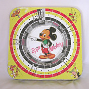 Vintage Mickey Mouse Spin-n-Win Tin Lithograph Game