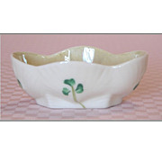 REDUCED Irish Belleek SHAMROCK Salt Cellar, Salt Dip