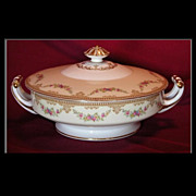 REDUCED Noritake Round Covered Vegetable Dish, M Mark c1933