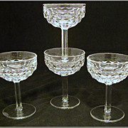 Set of 4 Fostoria American Champagne Glass / Tall Sherbet