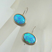 Sterling Silver 10kt Gold Lab Created Earrings