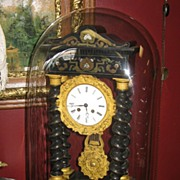French Empire Clock Under Glass Dome