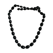 Black Trifari Graduated Bead Necklace Vintage