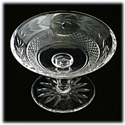 Waterford Crystal Compote Glandore Wreath Irish Hand Cut Crystal