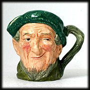 Auld Mac Royal Doulton Toby Character Mug D5824 3&quot; Figural Mug Vintage