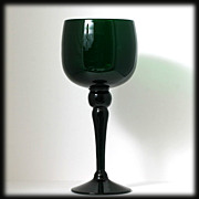 Blenko Emerald Green Large Goblet Stemmed Bowl 413L Mid Century Art Glass