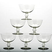 Kosta Boda Bernadotte Sherbet Glasses Smoke Gray Crystal Mid Century Art Glass