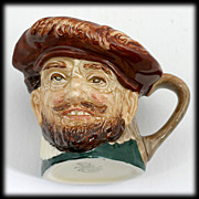 Royal Doulton Sir Francis Drake Toby Mug Jug Vintage 1940s Pottery English