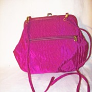 Vintage* Fendi * Embossed Faille Evening Clutch/ Strap