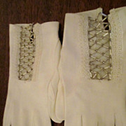 Beaded White Dress Gloves Fownes