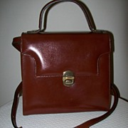 Leather Handbag/Shoulder Bag Christian Italy