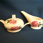 Red Wing *Lexington Rose * Creamer and Sugar
