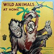 SALE Children's Book:  Wild Animals at Home