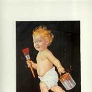 Sunny Jim--old calendar print by Hunter--1940's