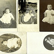 Vintage Postcards of Babies