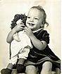 Vintage Original Photograph of girl and Raggedy Ann