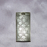 SALE Vintage 800 Silver Chrysanthemum Match Holder