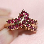 Appealing 10K Ruby Ring Sz. 6.5