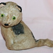 SALE Vintage Cat Wind-up Toy Moves Head, Tail and Body