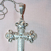 Attractive Sterling Cross and Necklace