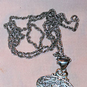 "Exquisite Sterling Pendant and 24"" Sterling Chain"