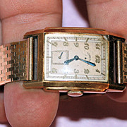 Vintage 1930s Lord Elgin 18K YG wrist watch with a 14K YG bracelet