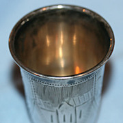 SOLD Russian 84 Sterling Silver Vodka Shot Cup