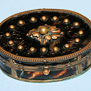 Antique 19th century Tortoise Shell Trinket Box