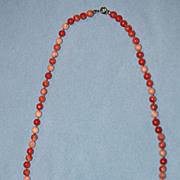 Vintage 19 Inch Coral Necklace