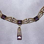 Simmons Gold Filled and Amethyst Necklace