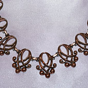 Great Design in this Brass 1960's Necklace