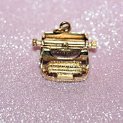 14K Y Gold Typewriter Charm