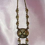 Charming Three Owl Head Necklace