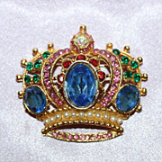 Crown Fashion Pin by Tara 1980's