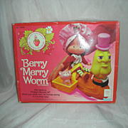 SALE Vintage Kenner Berry Merry Worm Strawberry Shortcake 1980's
