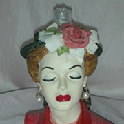 SALE Cameo Girls Eve Tea Party Head Vase