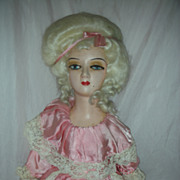SOLD Vintage Pompadour French Style Boudoir Doll Bed Dolls