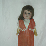 Vintage Herm Steiner 8 inch cabinet Size Bisque Doll German