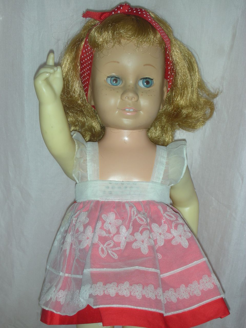 Vintage Mattel Chatty Cathy Doll 1960s Blonde Original Dress
