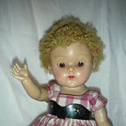 SOLD Vintage 1950's Ginny Doll with Tagged Dress Poodle Wig Vogue