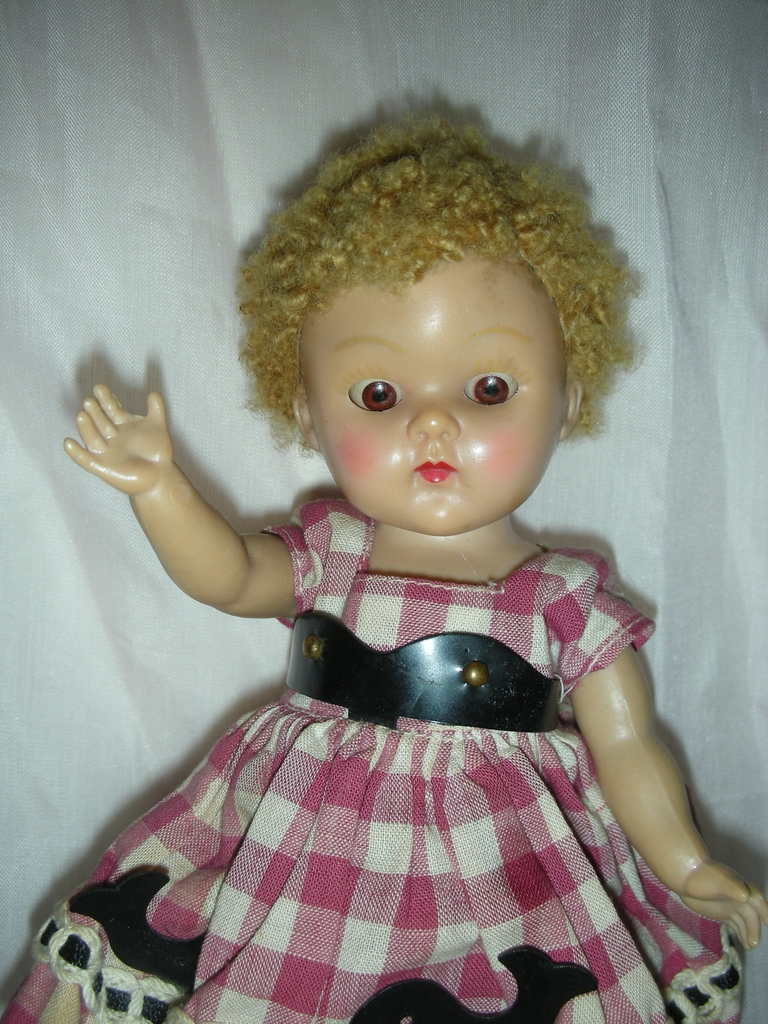 Vintage 1950's Ginny Doll with Tagged Dress Poodle Wig Vogue