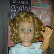 SOLD Vintage Early Mattel Chatty Cathy Doll in Box Light Blond Hair