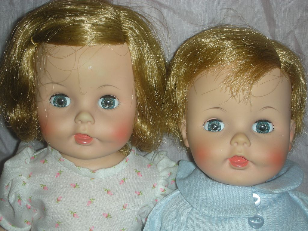 Vintage Rare Pair of Caroline and John John Kennedy Madame Alexander Dolls