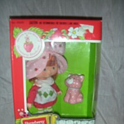 SOLD Vintage Strawberry Shortcake Doll and Custard NRFB
