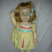 SOLD Vintage Chatty Cathy Doll in tagged Nursey School Dress Still Talks 1960's