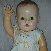 SOLD Vintage Large Tiny Tears Doll with Molded Hair and Original Romper