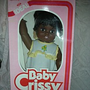 SALE Vintage Ideal Baby African American Crissy Doll Mint in Box