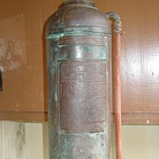 Red Star 2 1/2 Gal. Fire Extinguisher Model 303 General Detroit Copper Brass as is
